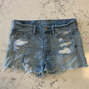 American Eagle High Rise Jean Shorts Size 2